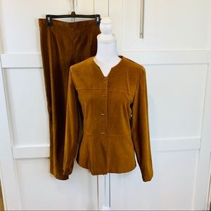 Suede like material suit